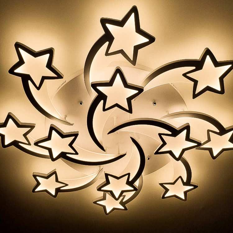 Лед люстра 12 звезд дтодные фото
