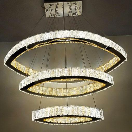 Люстра хрусталь LED crystal-boads фото