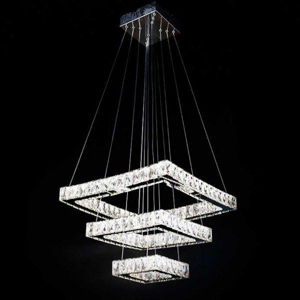 Люстра LED три квадрата подвесная quard фото