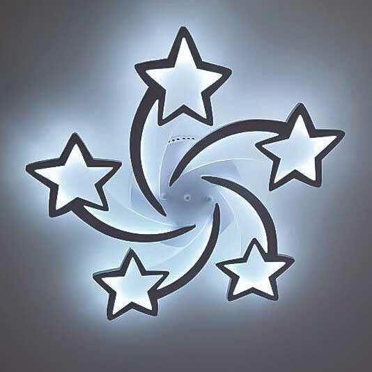 Люстра 5 звезд диодная фото
