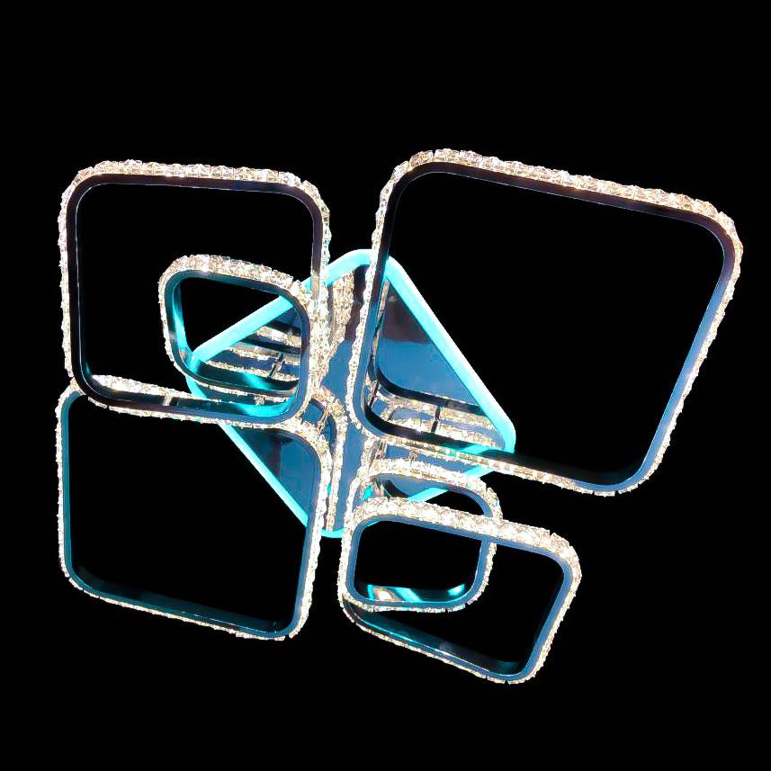 hrustalnaya-potolхрустальная потолочная люстра с изгибами Freestyle фото