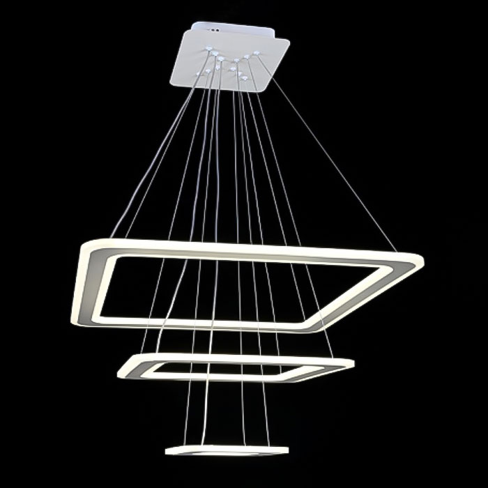 люстра квадраты Trimbless с пультом фото