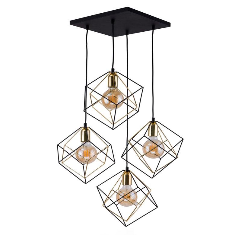 Лампа 4 плафона creed-4 фото